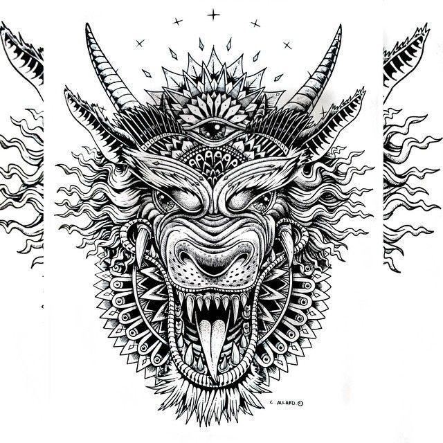 Dragon tattoo pinterest dragons tatoo and tattoo - Mandala de dragon ...