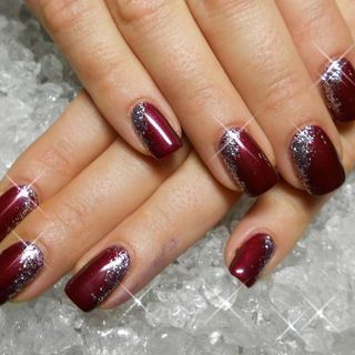 Nail Design Von Stefanie Forster Nageldesign By Steffi New Years Nail Art Burgundy Nails New Year S Nails