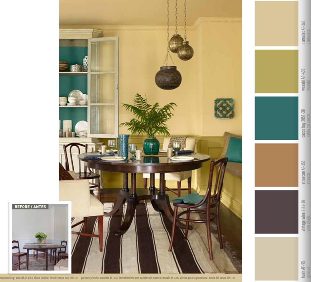 Neutral color palette - I love the pops of rich turquoise and lime ...