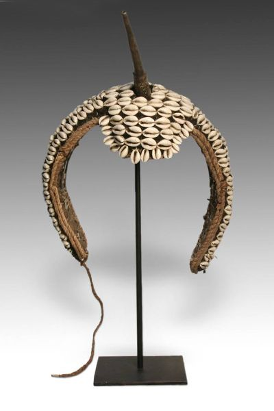 Warrior headdress by the Bongo people of Sudan
