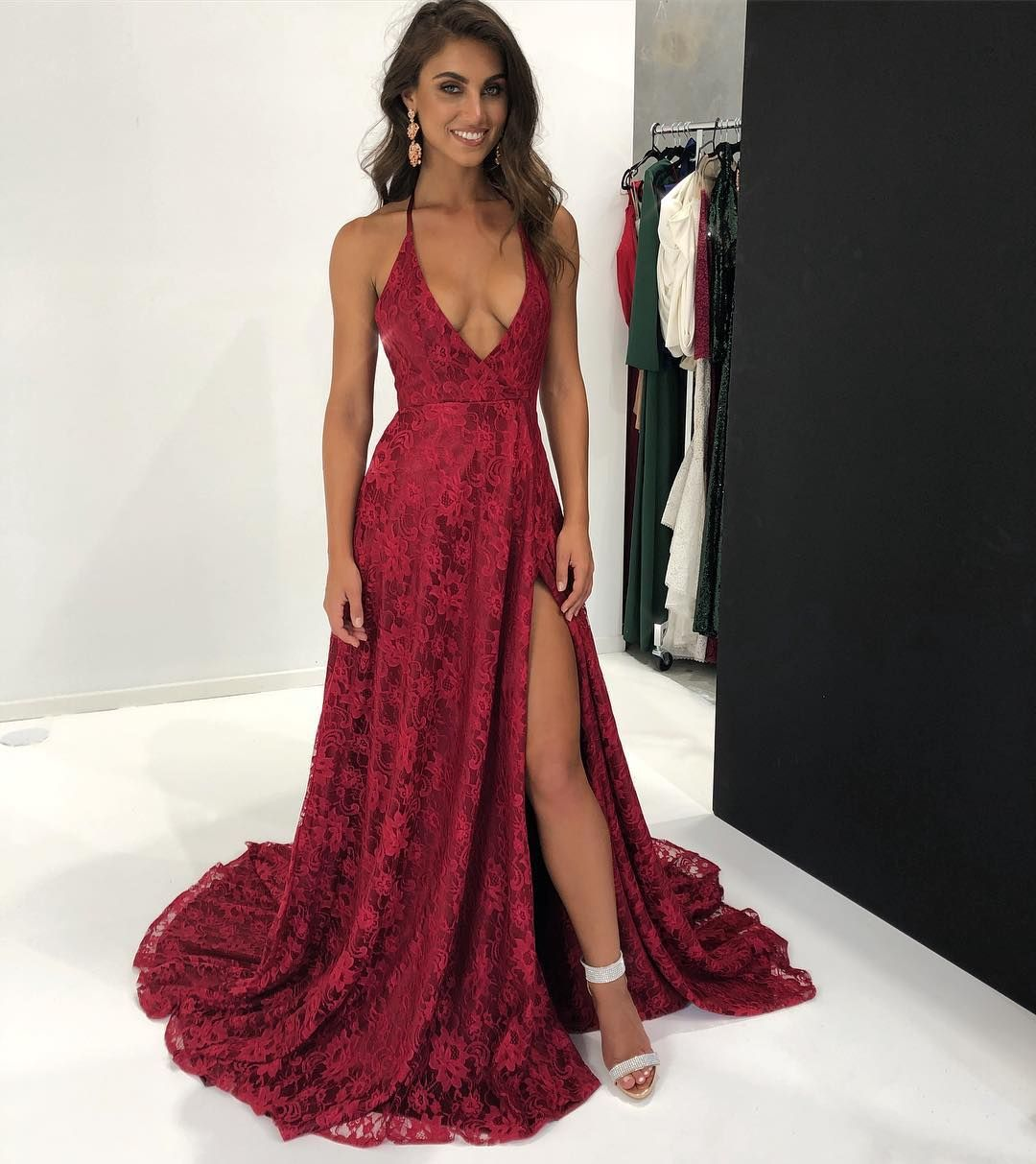 """11055794ffc A N LUXE LABEL on Instagram  """"Frida Lace Gown ❣ our latest obsession! We  are having a 20% off sale this month. Use coupon code """"Xmas2017"""" at ..."""