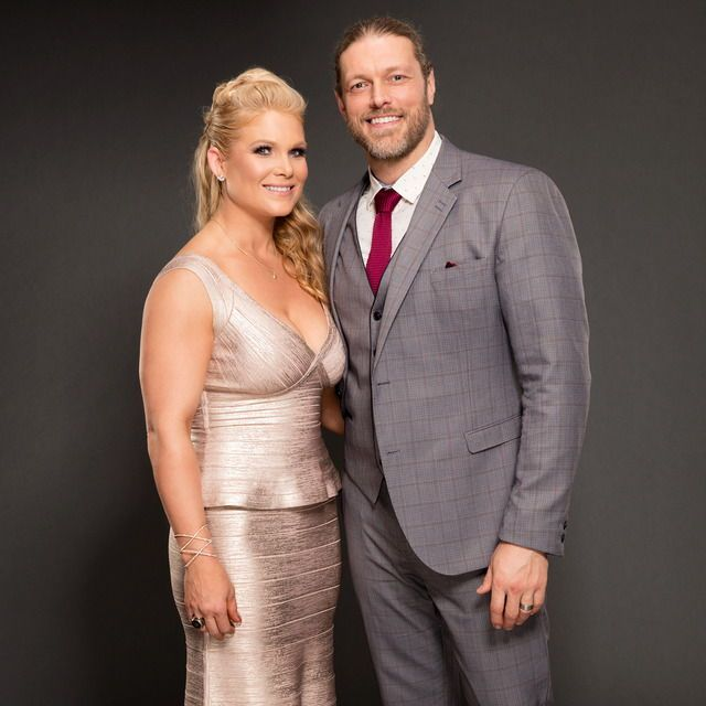 WWE Hall of Fame Superstar Edge (Adam Copeland) and his wife WWE ...