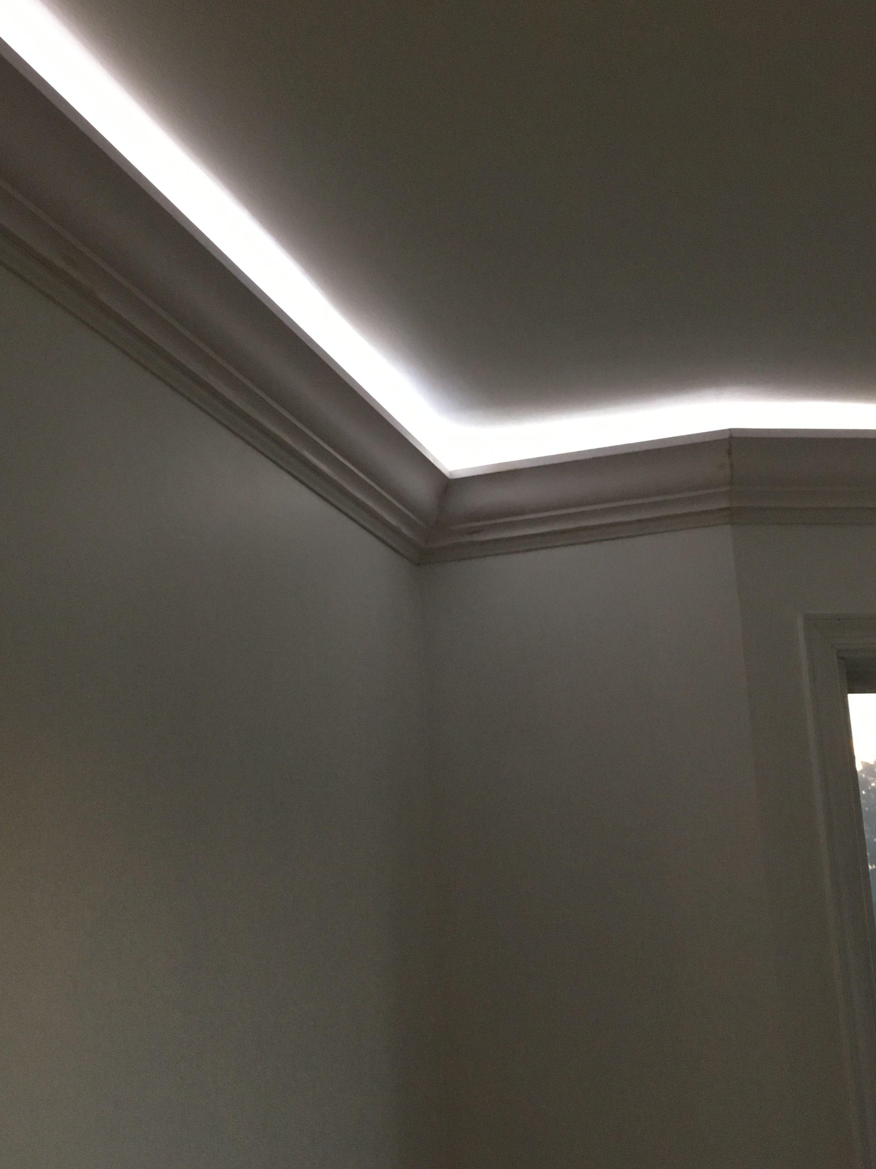 Rope Lighting Behind 5 Crown Molding Bedroom Ceiling Light Ceiling Crown Molding Wall Lights Bedroom