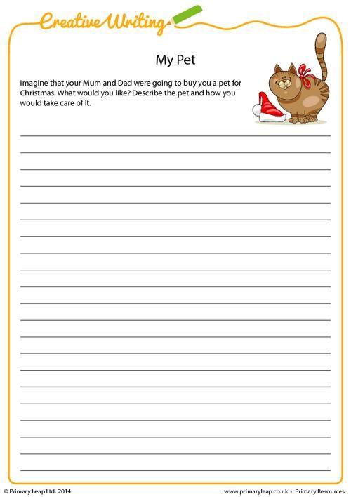 Primaryleap Creative Writing My Pet Worksheet Creative