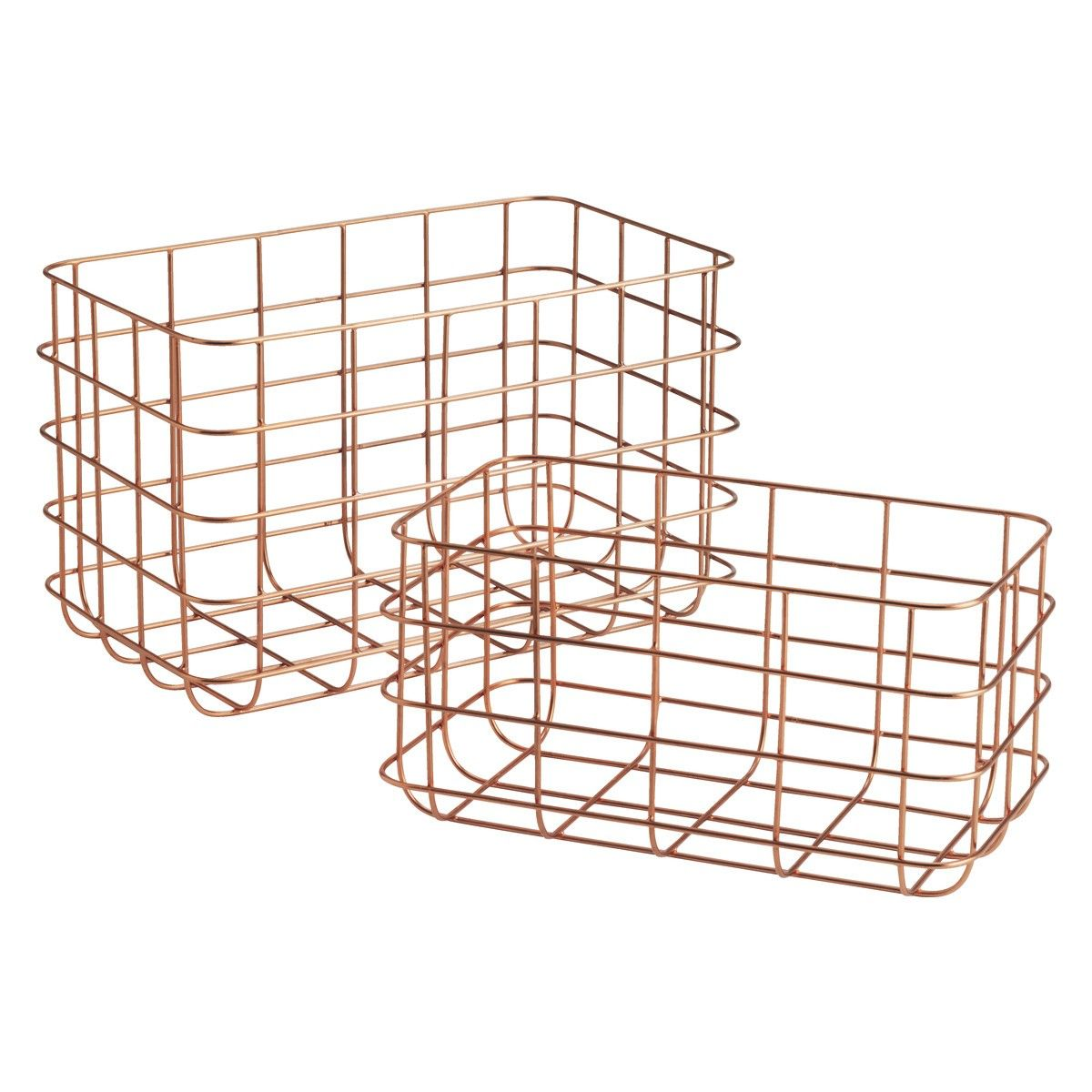 CLISSOLD Set of 2 copper wire baskets | Wire basket, Tabletop and ...