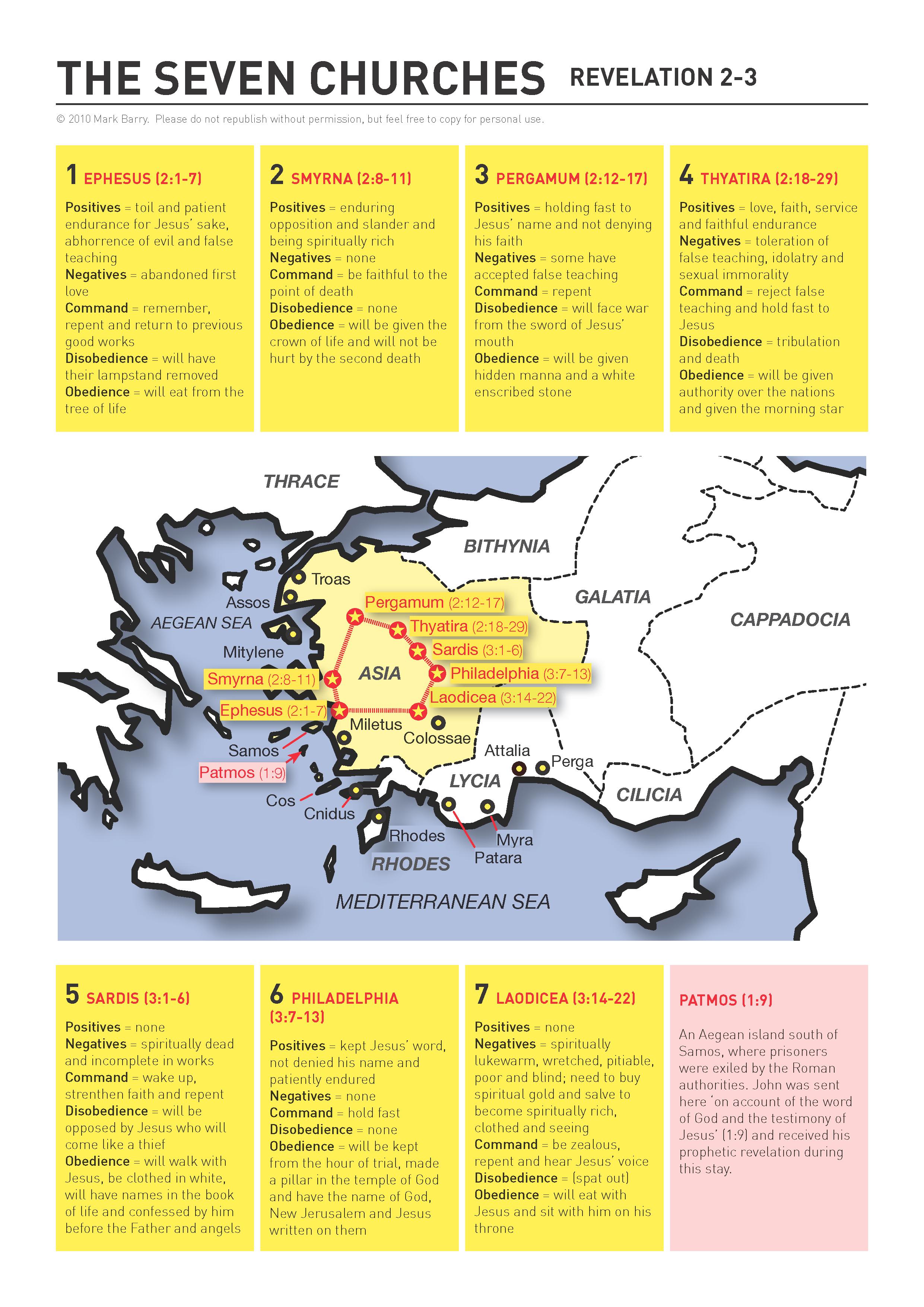 The Seven Churches Of Revelation 2 3 Version