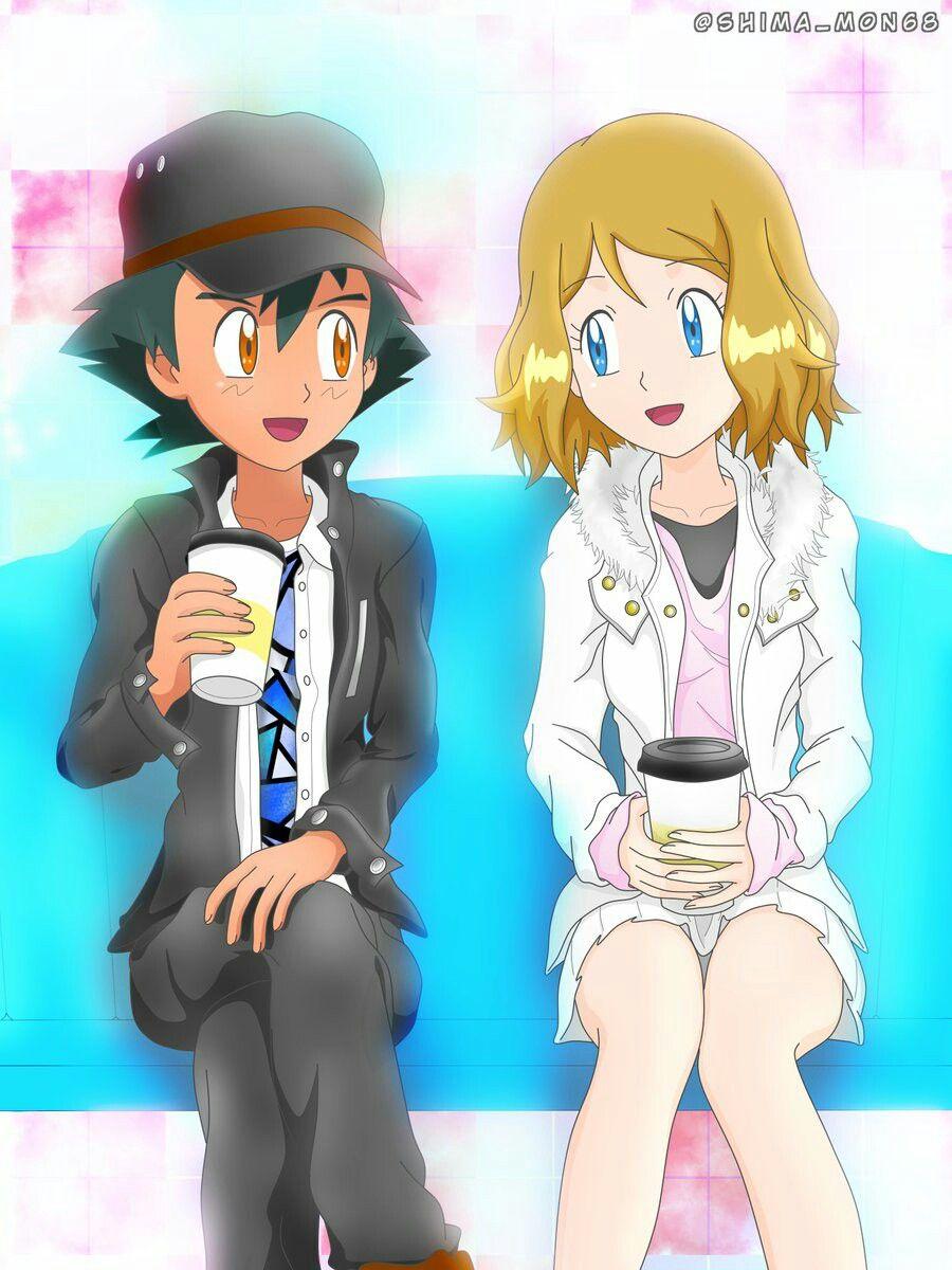 Ash Serena Pokemon Ash And Serena Pokemon Kalos Pokemon Characters