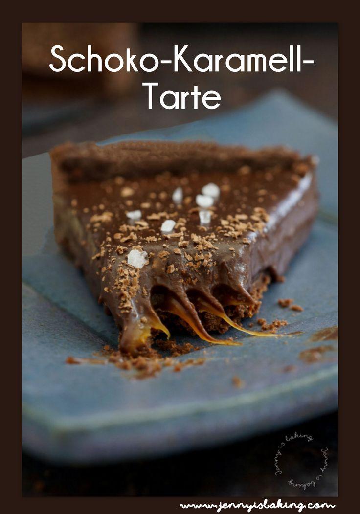 Schoko-Karamell-Tarte - Jenny is baking