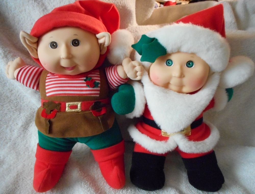 2 Adorable 1992 Holiday Edition Cabbage Patch Dolls~Santa & Elf~Excellent Cond #ClothingAccessories