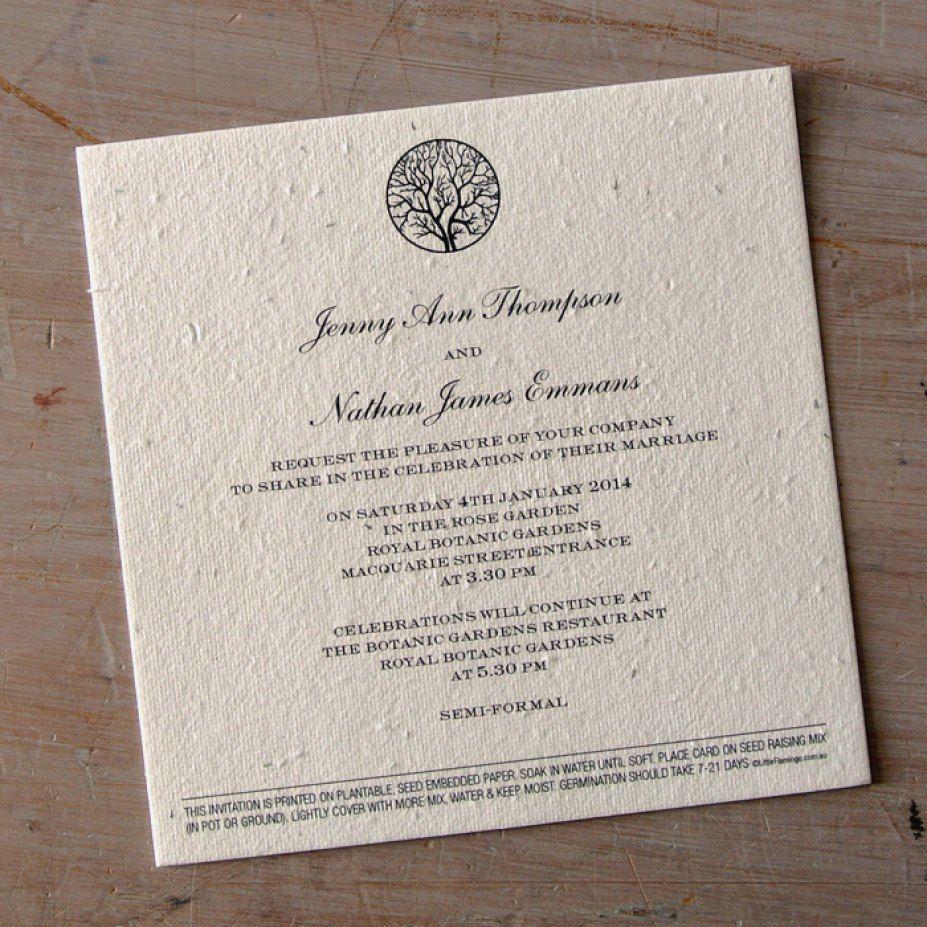 Plantable Wedding Invitations Awesome Planning