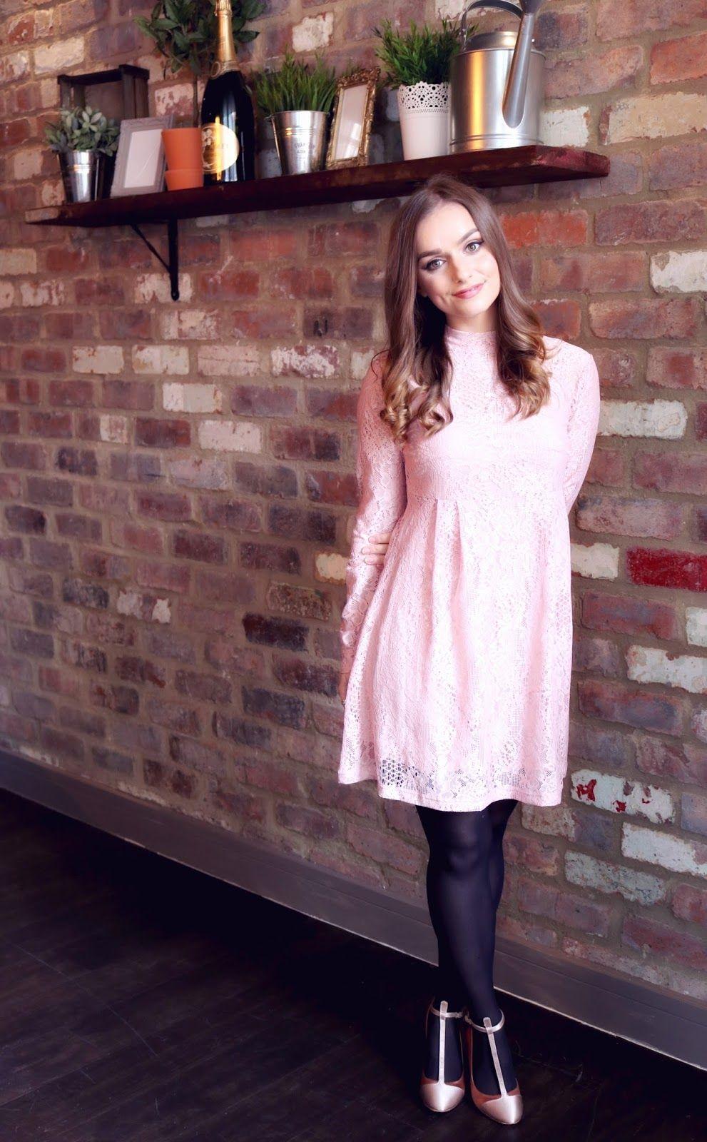 47316469320 Pink ASOS Lace Babydoll Dress and Jewellery Box Unicorn Necklace