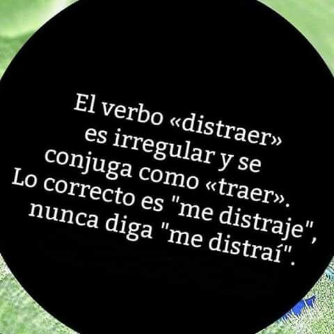 "Verbo ""distraer"""