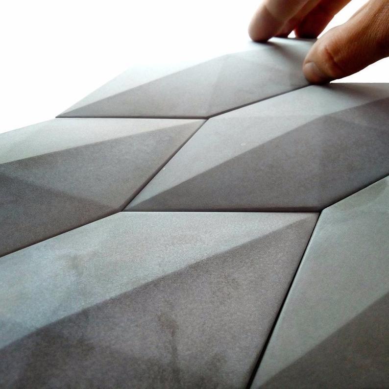 Diamond Design Wall Brick Silicone Mold Concrete Tile Mold Diy Etsy In 2020 Pattern Concrete Concrete Tiles Brick Molding
