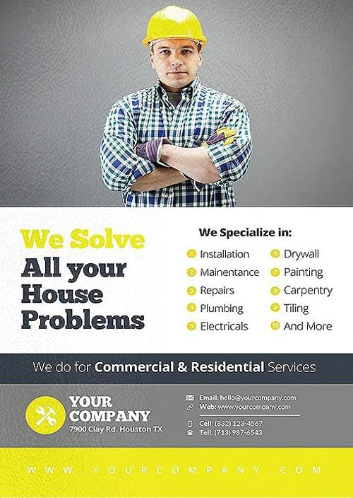Handyman Business And Service Flyer Template  HttpsFfflyerCom