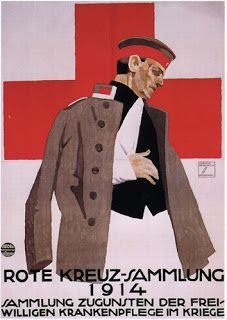 Ludwig Hohlwein,. Red Cross Collection 1914. Collection in support of volunteer nursing in the war. 1914,