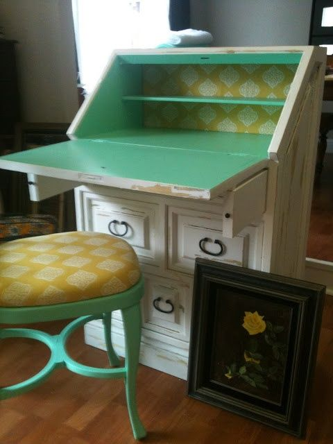 almost magnolia Two tone secretary desk the color paint for the
