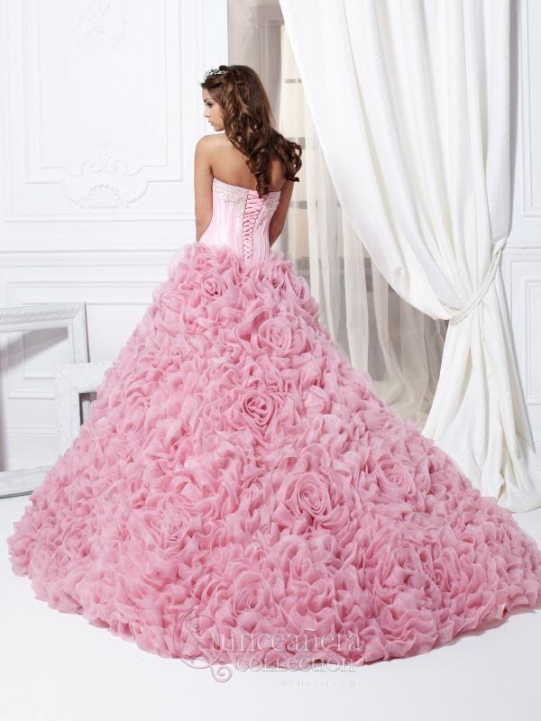 Vestido de Fiesta de 15 bien Largo de color Rosa | `♡`Pink and Pink ...