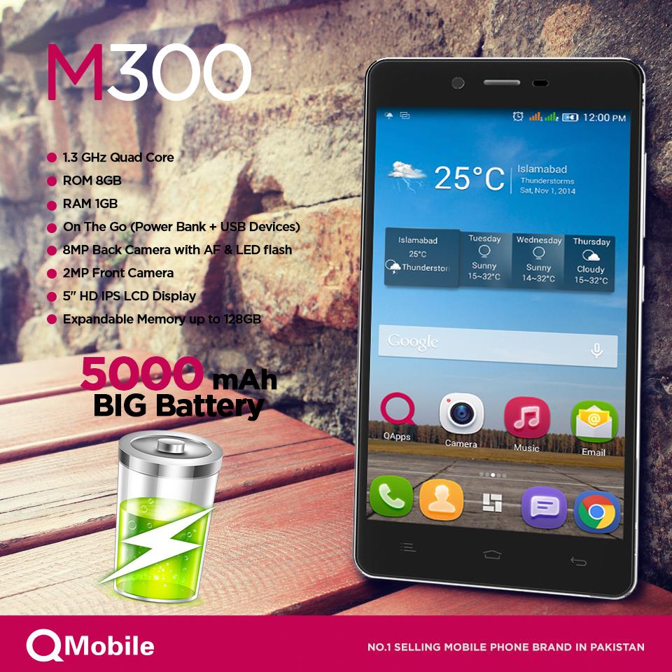 Looking your long battery phone qmobile m300 comes with an looking your long battery phone qmobile m300 comes with an amazing huge marathon battery that buycottarizona