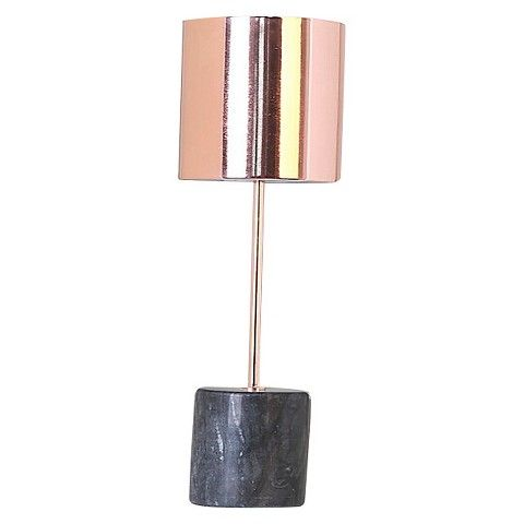 Threshold™ Copper Stick Lamp With Cylinder Marble Base Assembled  Dimensions: 18.375H X 5.000