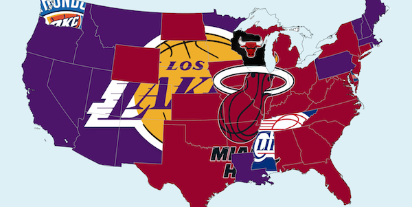 These Hate Maps Depict The Most Hated NBA Team In Each State And