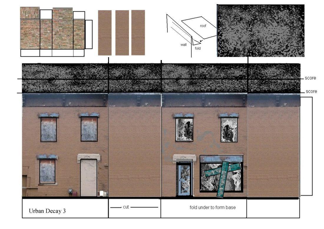 Free Downloads Of Buildings In 00 Gauge Paper Models Urban Decay Model Railway Track Plans