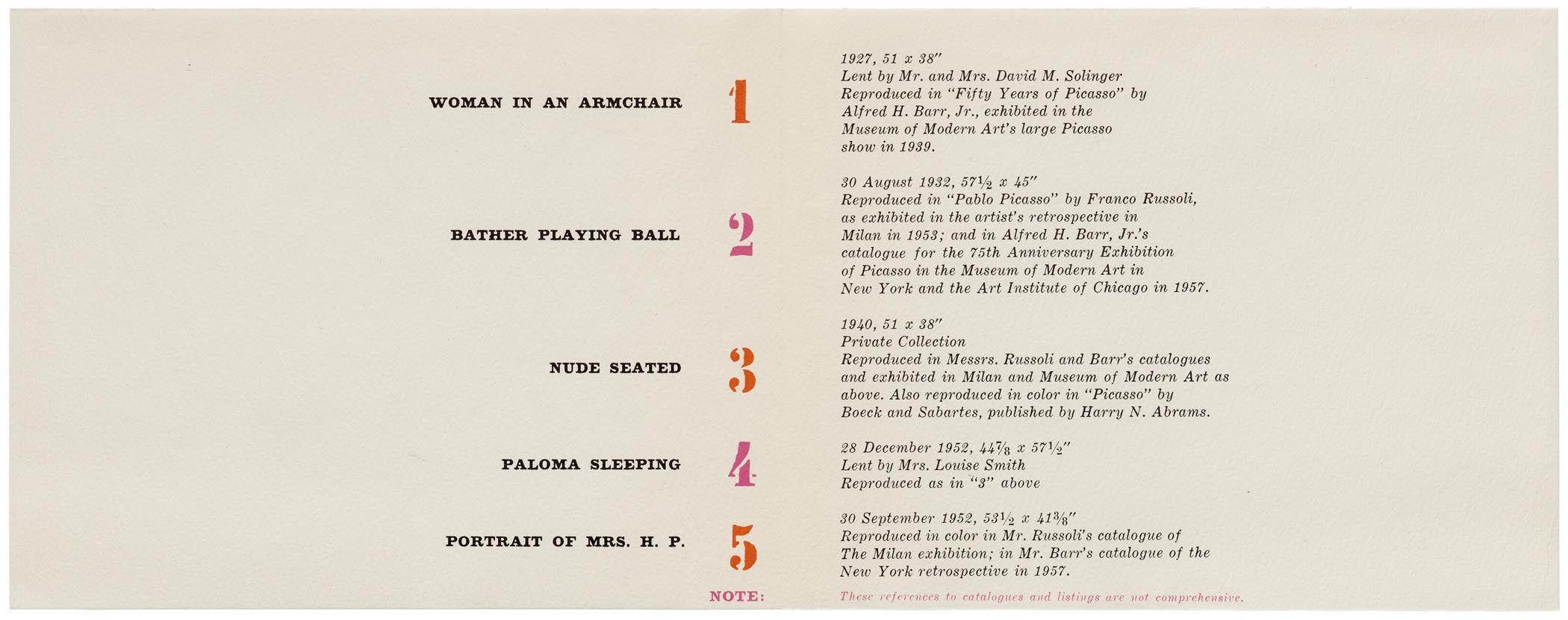 Elaine Lustig Cohen Exhibition Catalog For Picasso The Master