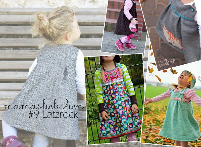 Nähanleitungen Kind EBook E Book #9 Latzrock Kinder Rock