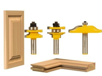 3 Bit Raised Panel Cabinet Door Router Bit Set - Ogee - Yonico ...
