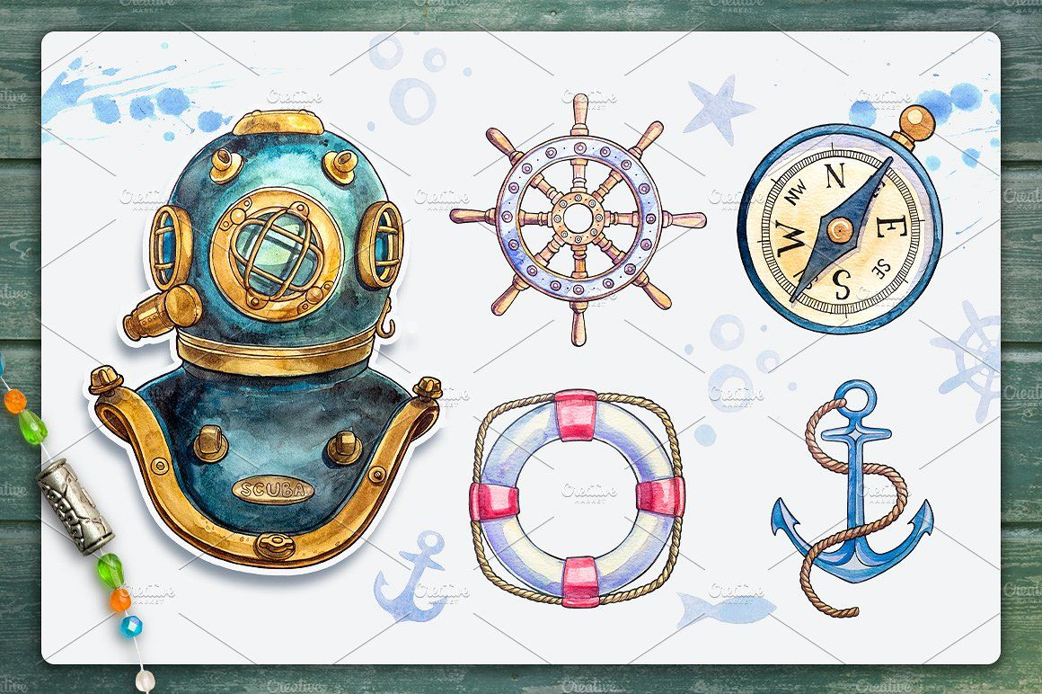 Nautical illustrations - Illustrations - 2