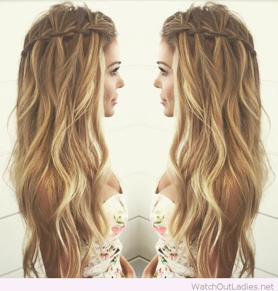 Wedding Guest Hairstyles For Curly Hair : Cool waterfall braid for curly hair hair pinterest