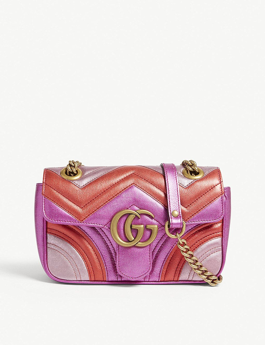 fb737a12a4b4bf GUCCI Metallic Marmont shoulder bag in 2019 | My style! My makeup ...