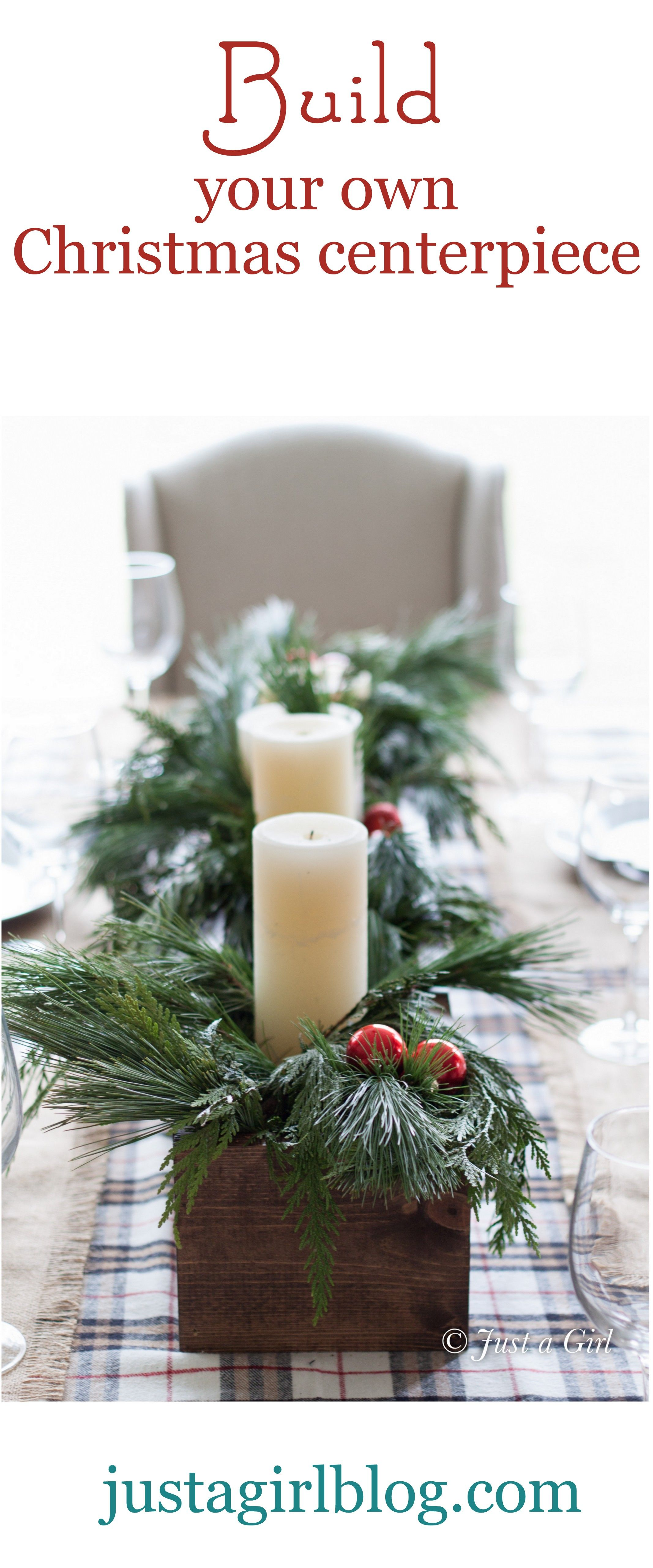 Christmas table diy you could also change out the Xmas decor for