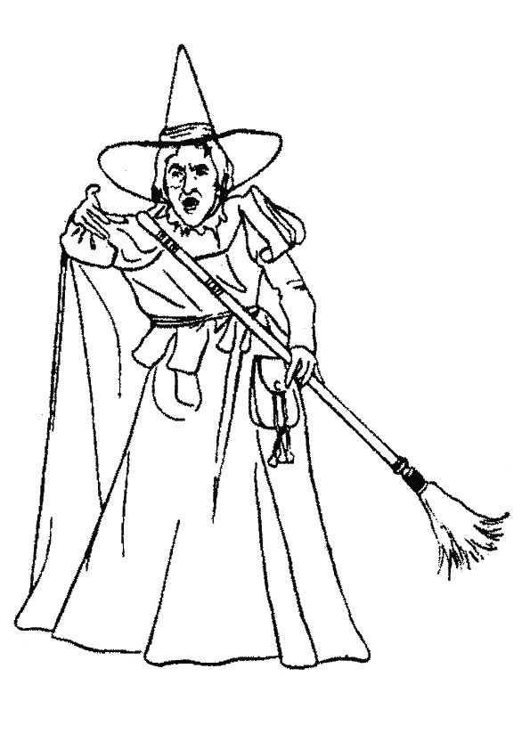 Top 15 The Wizard Of Oz Coloring Pages For Your Toddler Witch