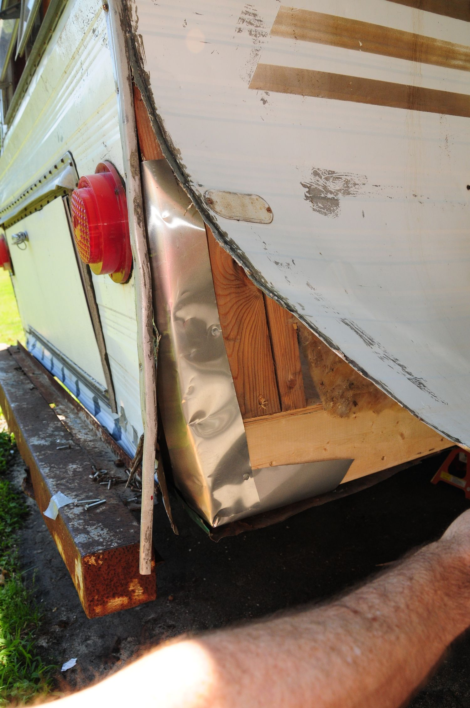 Vintage Trailer Restoration Sheet Metal Patches And
