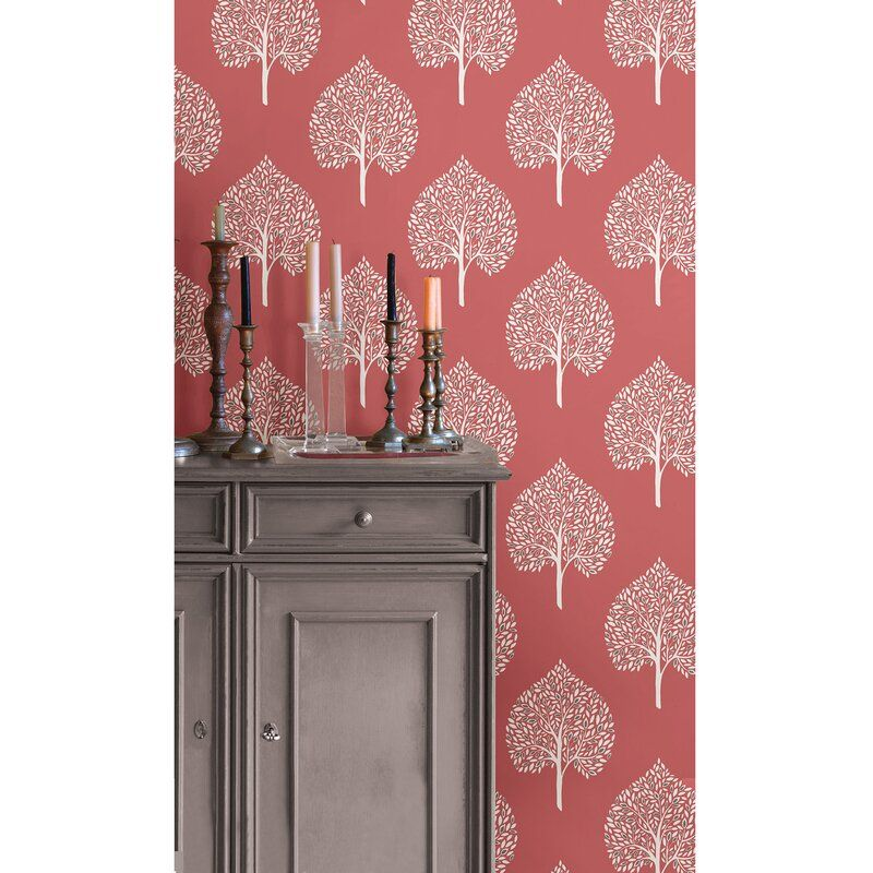 Seabeck Coral Peel And Stick Wallpaper Roll In 2020 Coral Wallpaper Peel And Stick Wallpaper Nuwallpaper