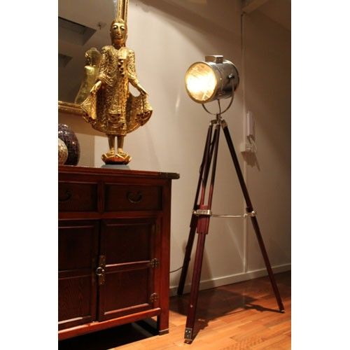 Marine Nautical Signal Light Floor Lamp - Brown Frame - Fat Shack ...
