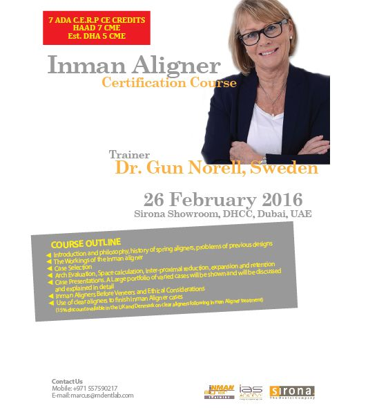 Inman Aligner Certification Course organized by CAPP in Dubai | CAPP ...