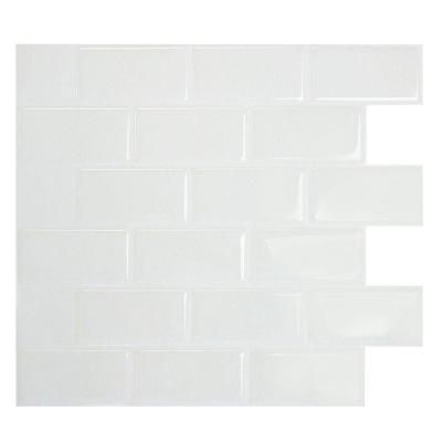 Home Depot Decorative Tile Smart Tiles 1096 Inx 975 Insubway White Mosaic Decorative