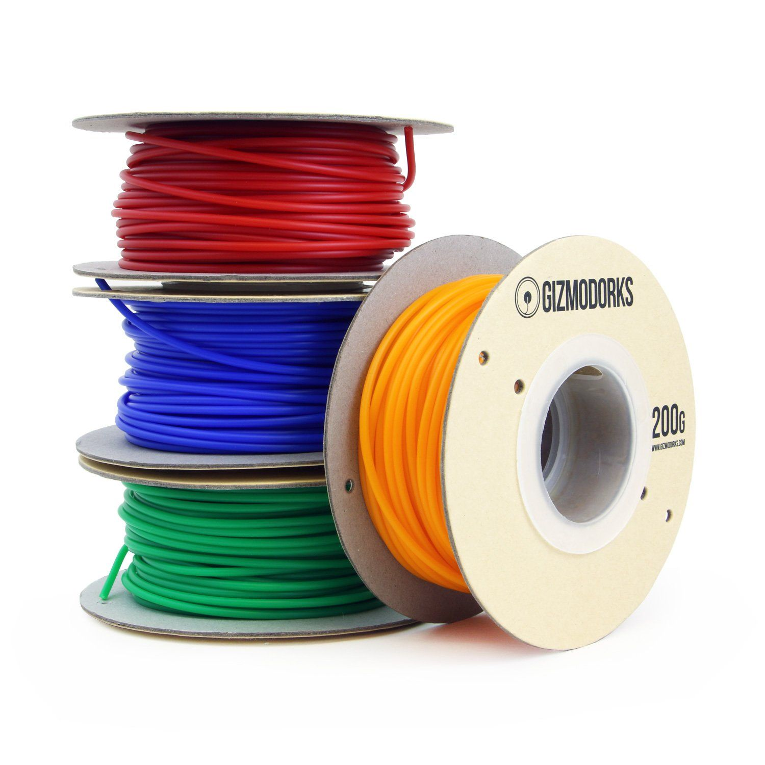 Blue 2.85mm Gizmo Dorks 3mm ABS Filament 1kg // 2.2lb for 3D Printers
