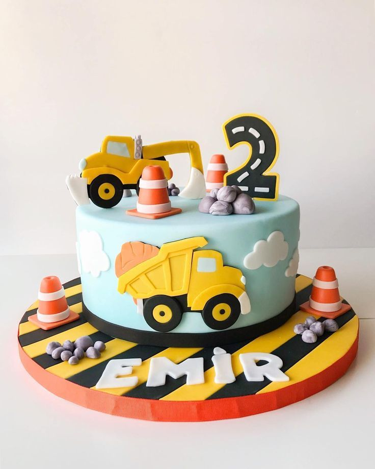 Swell Pin Image Construction Birthday Party Cakes Truck Birthday Birthday Cards Printable Opercafe Filternl
