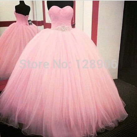 Real Picture In Stock Pink Quinceanera Dresses Ball Gown New