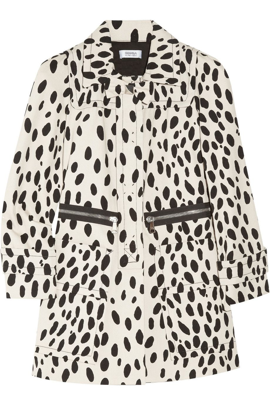 6aee378262 Dalmatian-print cotton-drill coat by Sonia by Sonia Rykiel ...