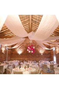 Tentures decoration plafond salle de ceremonie mariage bapteme anniversaire d - Deco plafond mariage ...