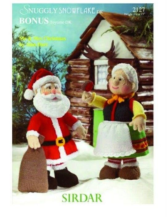 mr and mrs christmas knitting