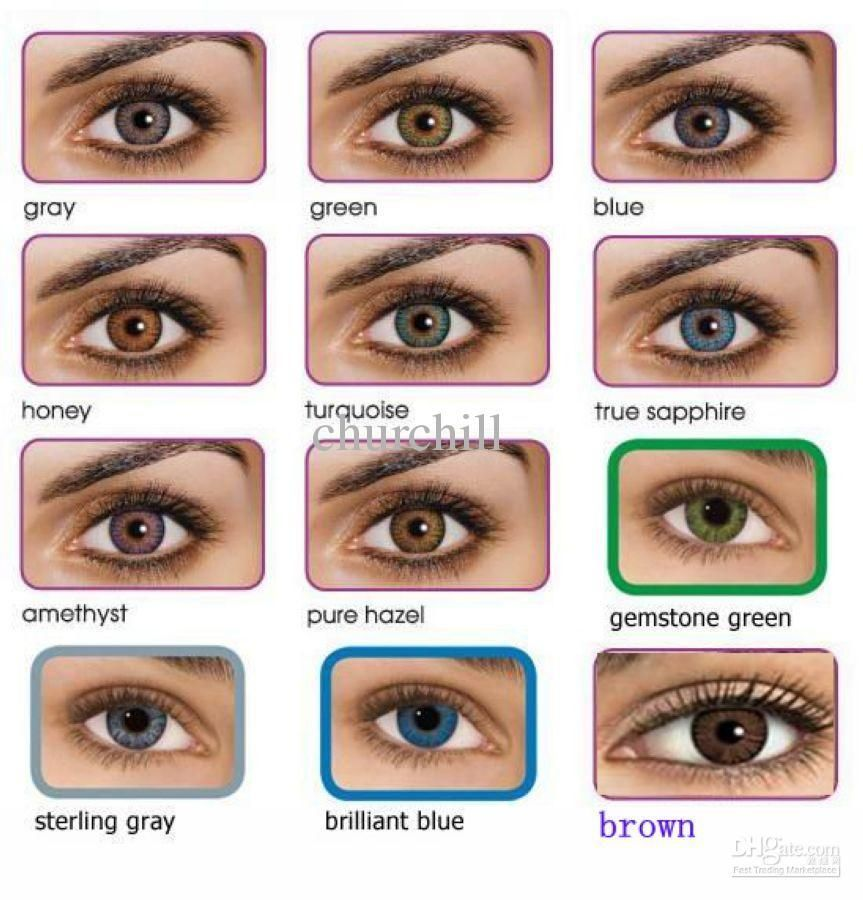 Eye Color Charts Freshlook Colorblends Contact Lenses