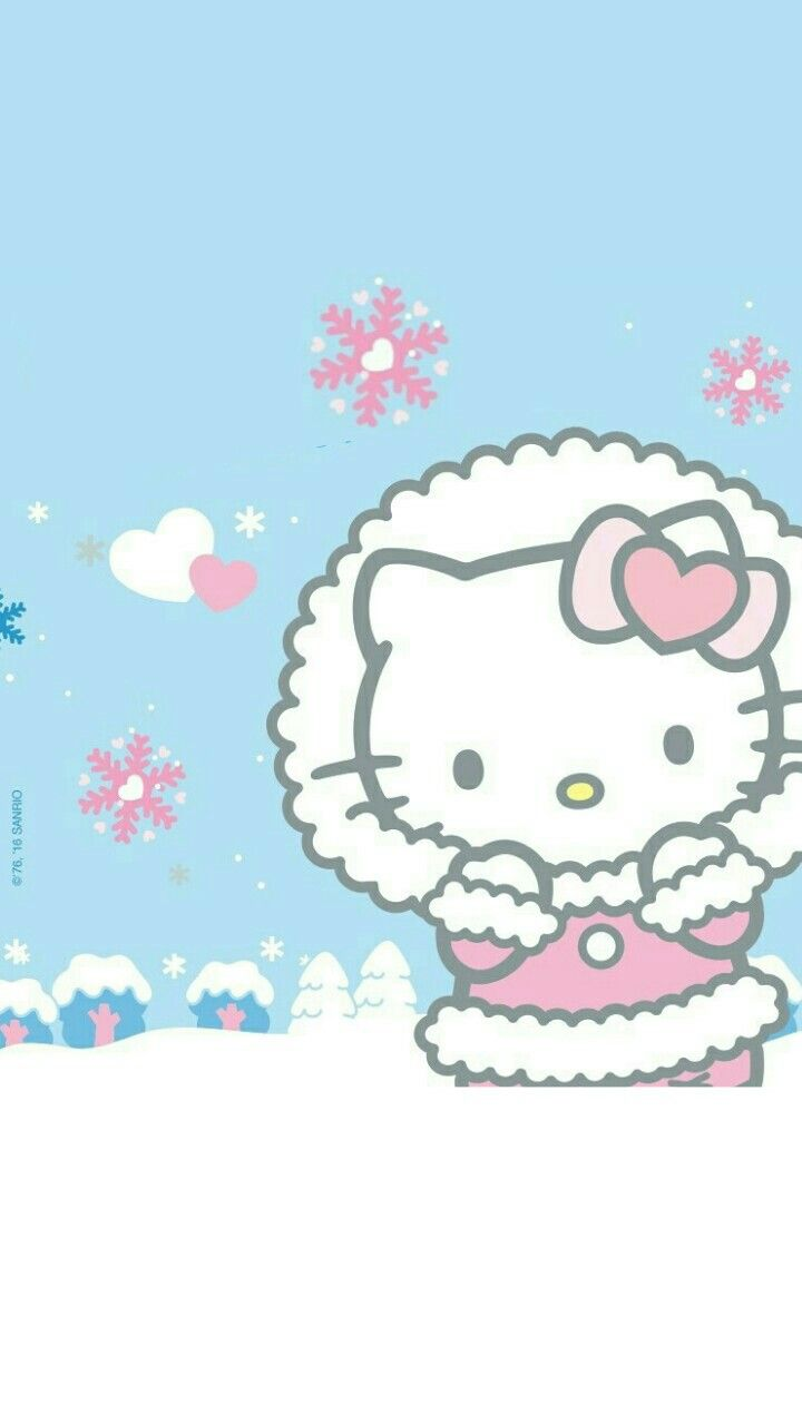 Hello Kitty winter phone wallpaper | BackgRound. | Hello ...
