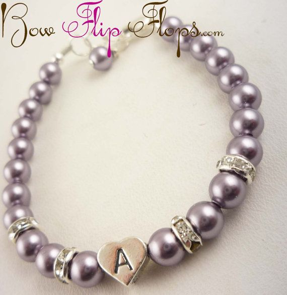 Design your own flower girl bracelet por BridalFlipFlops en Etsy