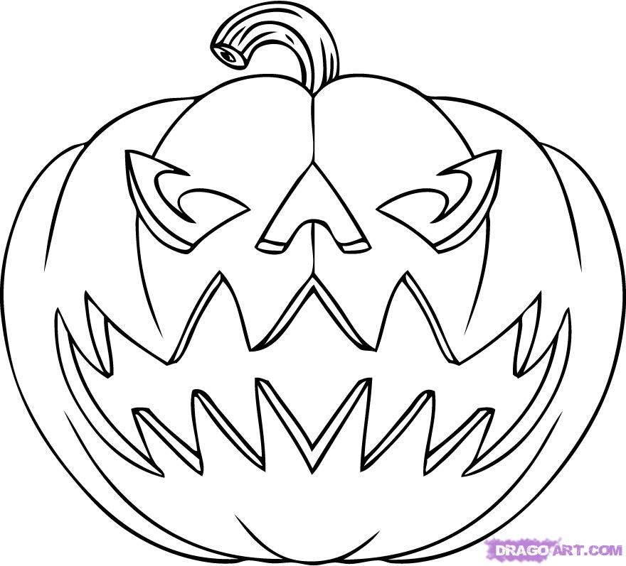 Halloween Pictures To Print And Color For Free Halloween