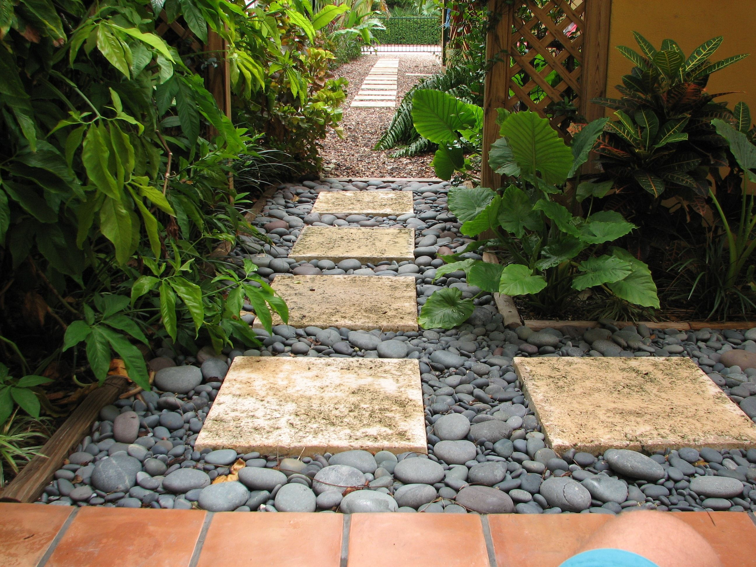 Black Pebbles And Firelite Garden 2   Olimar Stone, Decorative Stone, Beach  Pebbles, Garden Rocks In South Florida