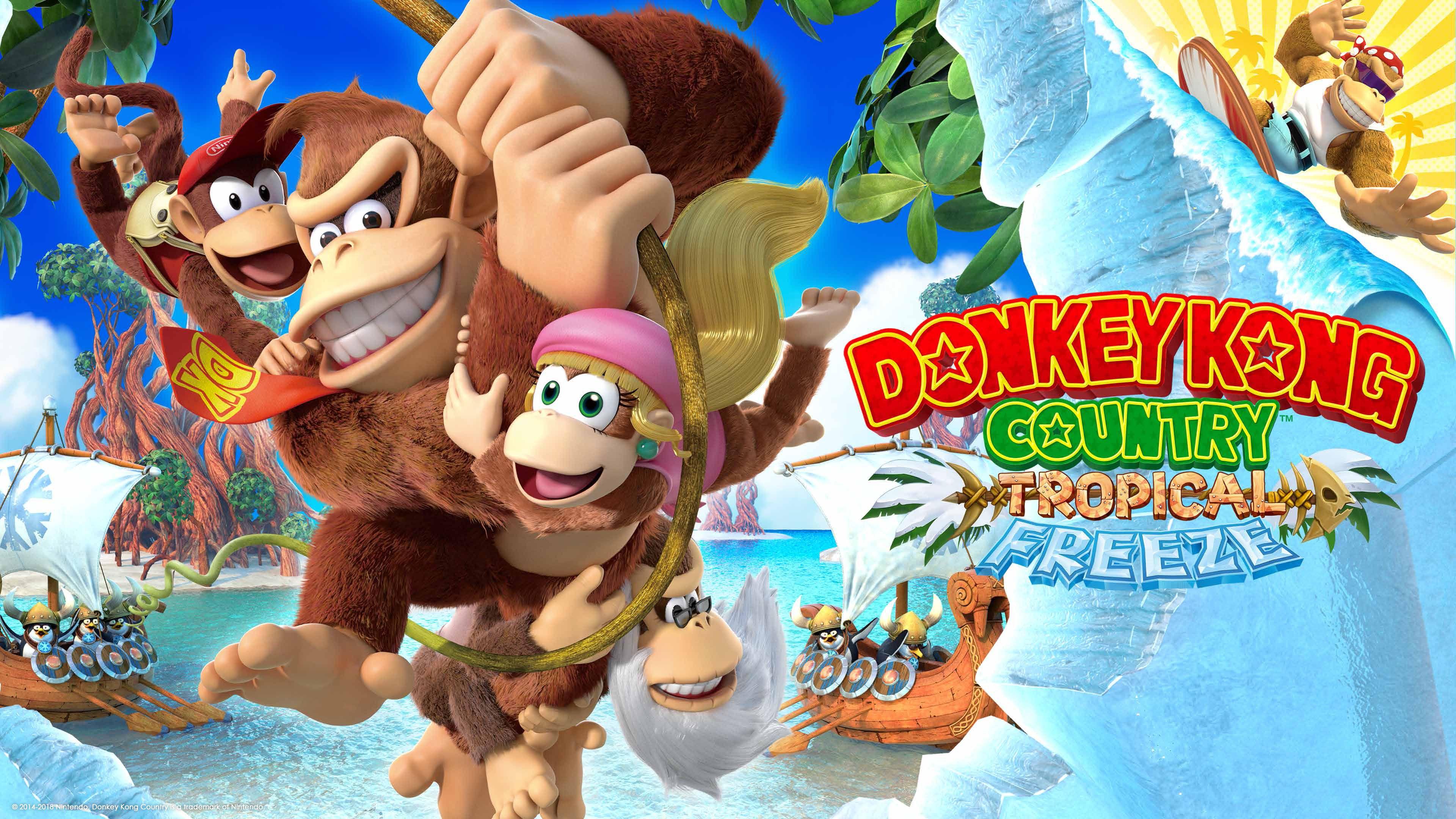 Donkey Kong Country Tropical Freeze Wallpaper 3840x2160 Donkey Kong Country Frozen Wallpaper Donkey Kong